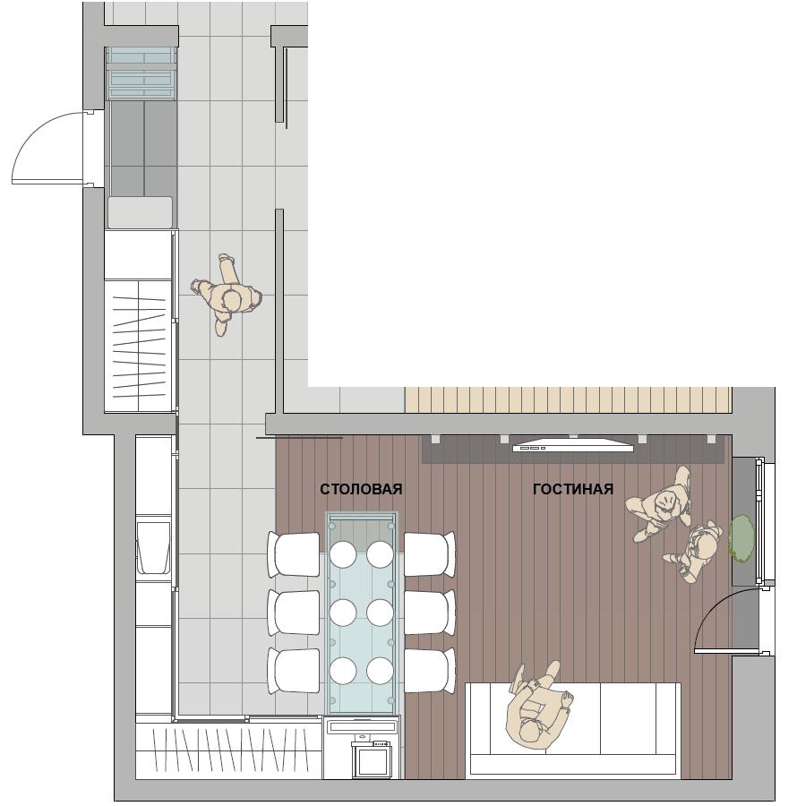 Планировки квартиры студии