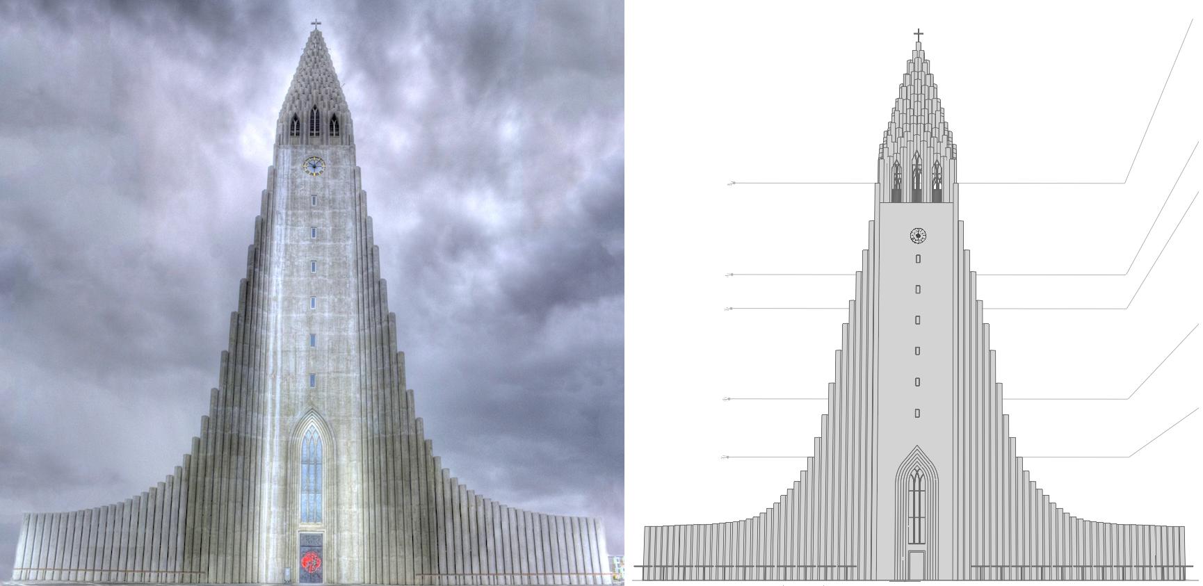 3D проектирование - лютеранская церквь «Хадльгримскиркья»