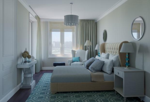 Спальня из проекта квартиры площадью 75 кв. м (фото из архива дизайнера)