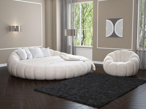 Круглая мебель. Дизайн интерьера