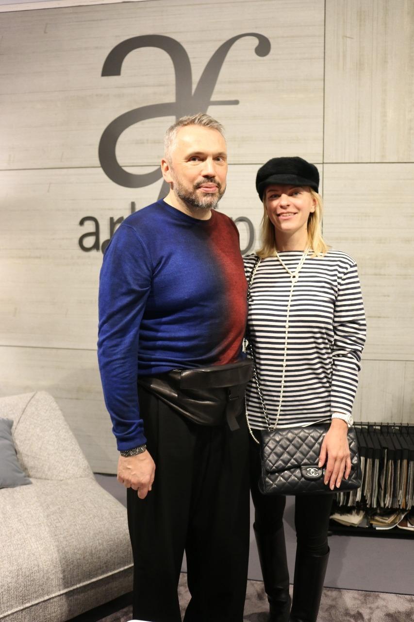 Майк Шилов и Полина Сурина Salone del Mobile.Milano Moscow