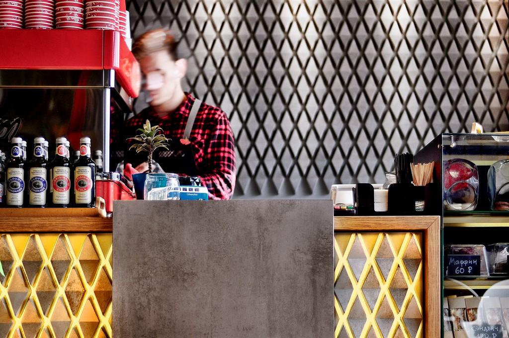 Кофейня RC SALUT дизайн интерьера