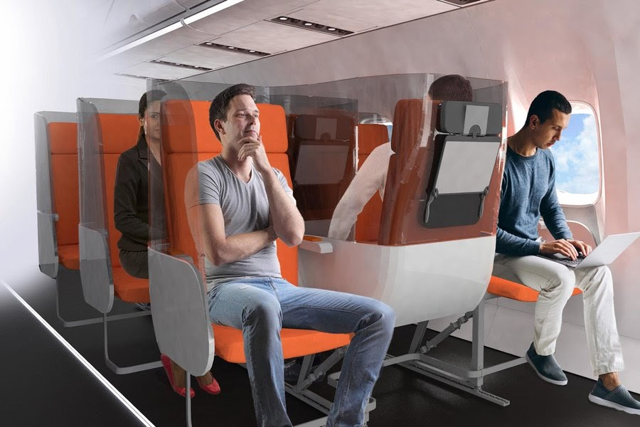 Новые сидения для самолетов от итальянской дизайн-компании Aviointeriors