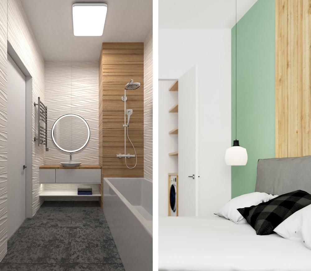 Дизайн интерьера трехкомнатной сталинки площадью 77 кв.м. в Ступино от AKmadeHouse, студия дизайна